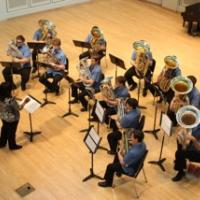 Professor Velvet Brown conducts the Tuba Euphonium Ensemble at the 2014  International Tuba and Euphonium Conference in Bloomington, IN