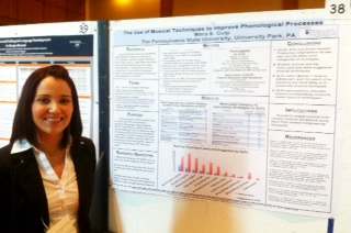 Mara Culp with her research poster