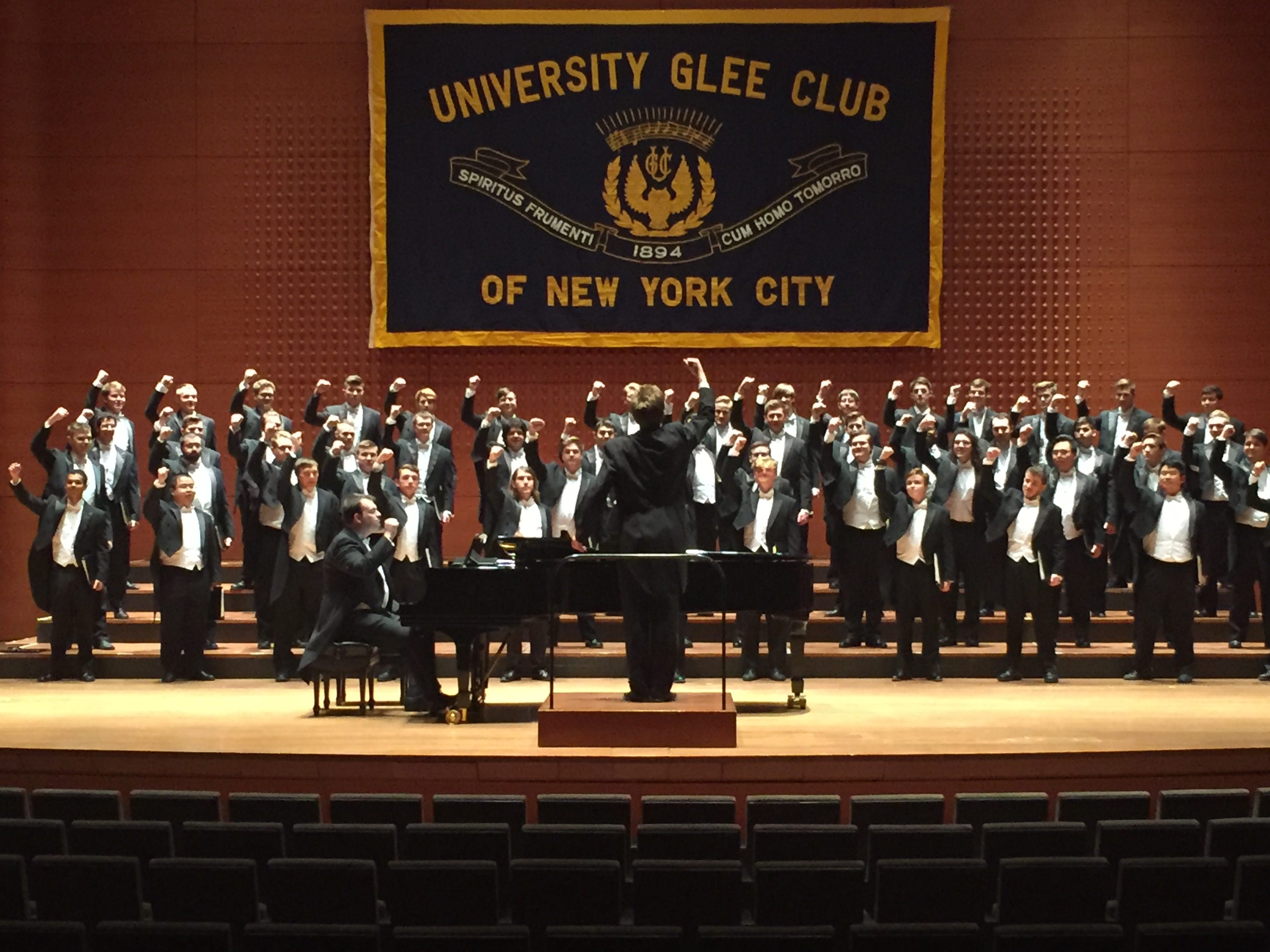 Glee Club performing at Alice Tully Hall, January 2018