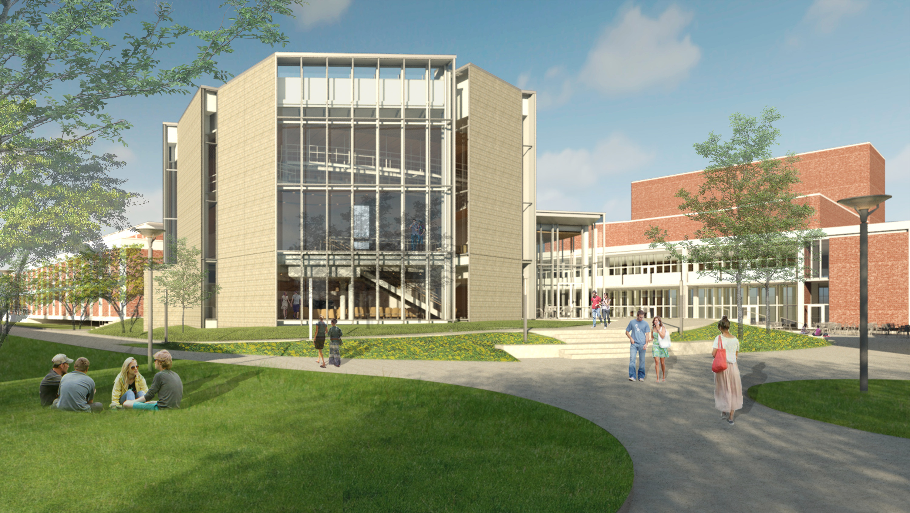 new recital hall external view