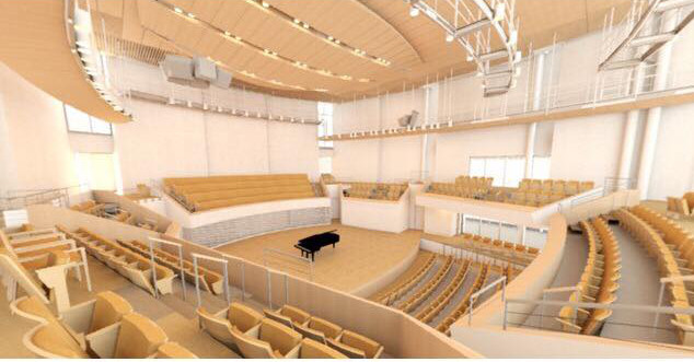 new recital hall interior
