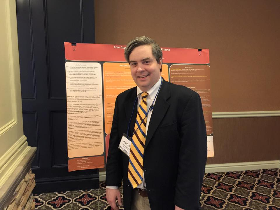 Mac Himes presents poster at PMEA Conference