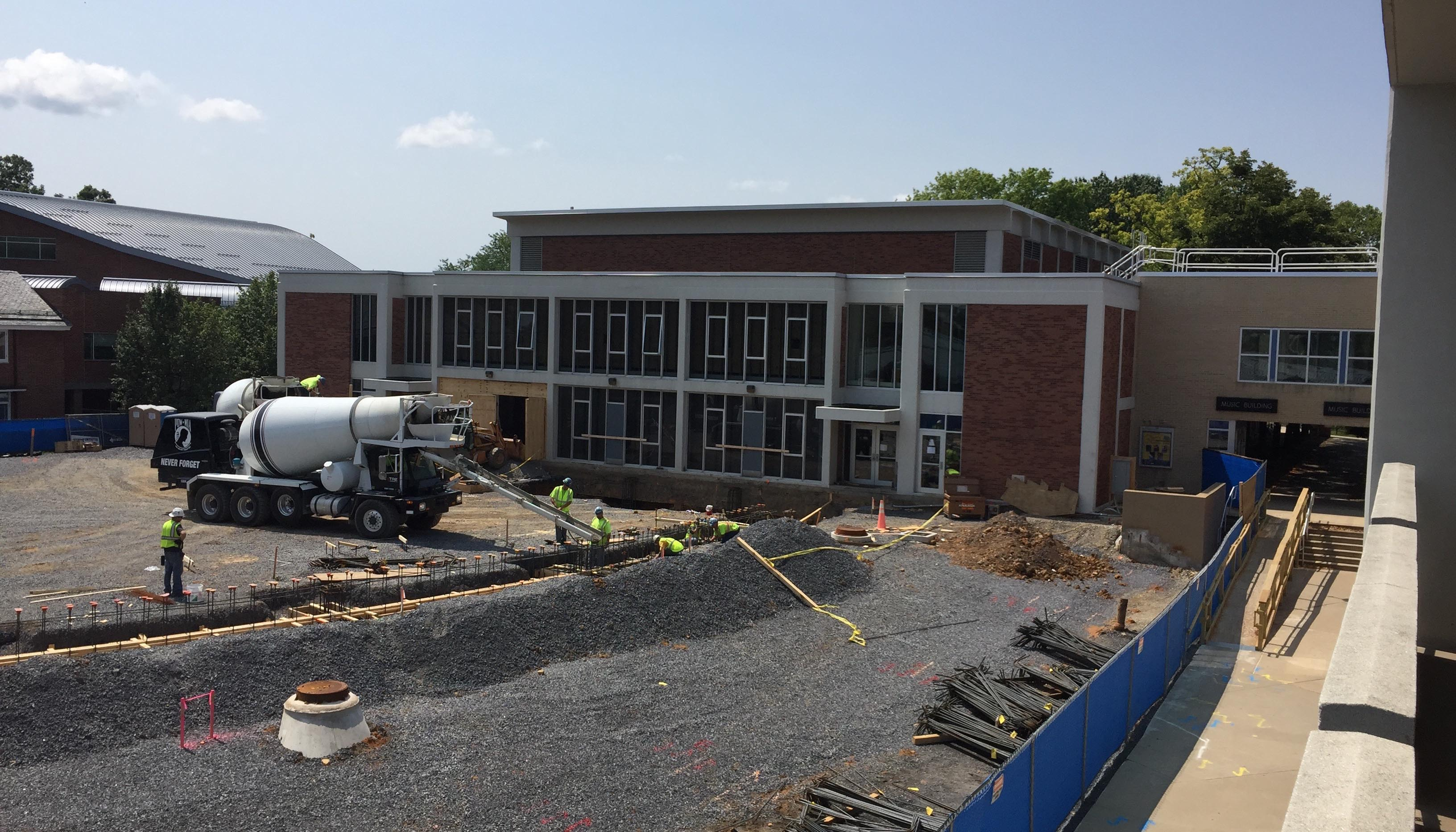 recital hall construction August 2017