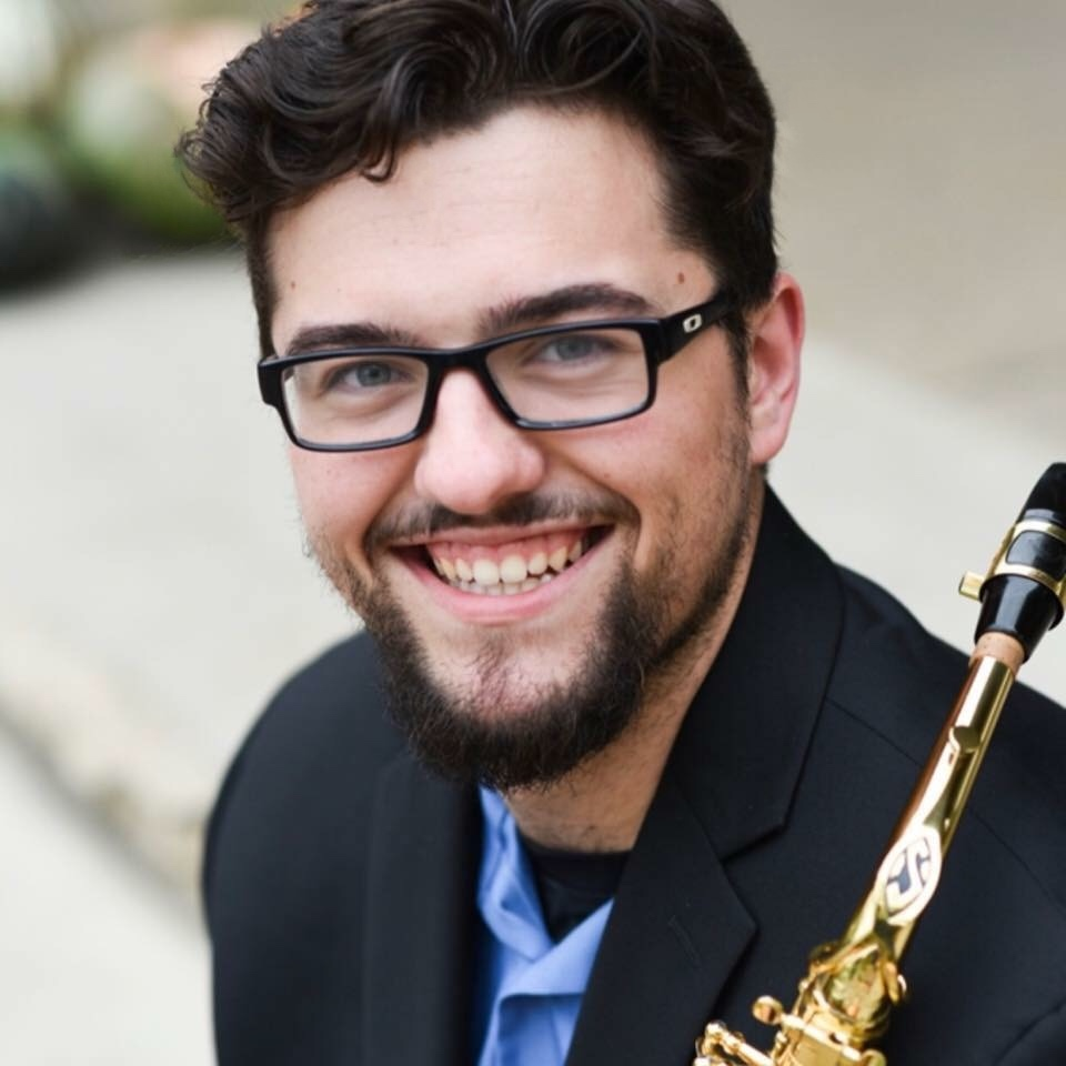 thomas snyder with saxophone