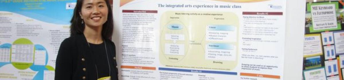 Yo-Jung Han presents a poster at PMEA Conference