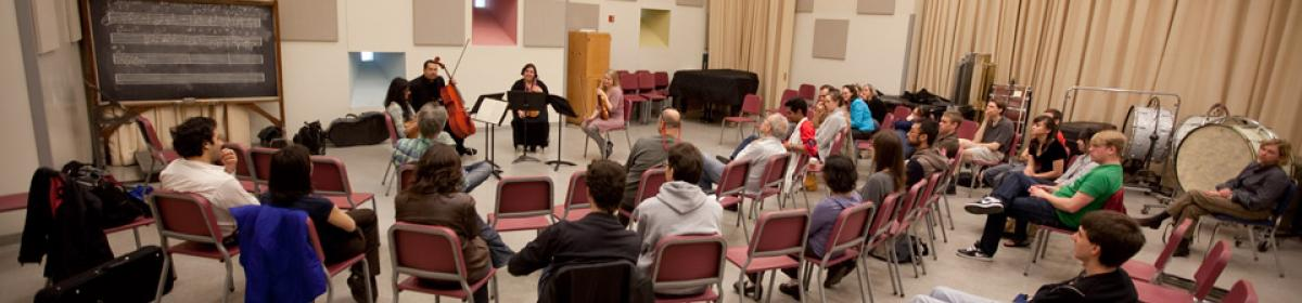 kronos string quartet in master class