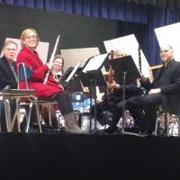 The Pennsylvania Quintet prior to their performance for the PMEA District 6 high school band members
