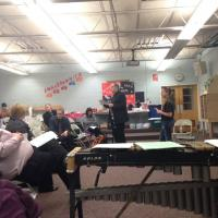 Anthony Costa provides a clinic for high school band directors at PMEA District 6 festival in Meyersdale, PA
