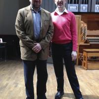 With Olivier Latry, Professor of Organ, at the Paris Conservatoire