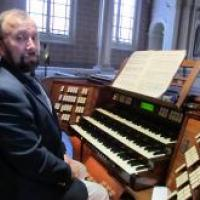 Sitting at Messiaen's organ at La Trinité