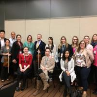 String Area alumni at 2017 ASTA conference with Professor Lyon