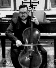 Miguel Campos playing the cello