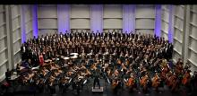 combined choirs and philharmonic orchestra