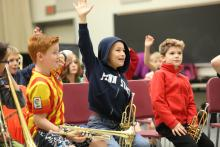 5th grade trumpet players visit Penn State