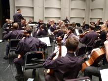 Maestro Edelstein conducts the invitational orchestra festival