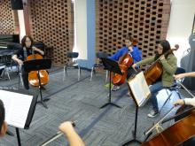 Professor Kim Cook joins the invitational cello participants