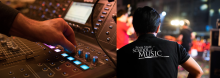 Stagehand and mixing board